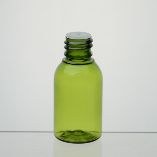 Plastic Boston Round Bottles